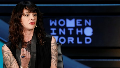 Asia Argento a participé à l'événement Women In The World Summit, à New York, le 12 avril 2018.
