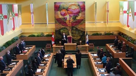 L'Assemblée législative du Yukon, le 20 avril 2017.