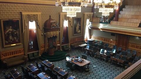 Vue intérieur de l'Assemblée législative du Nouveau-Brunswick