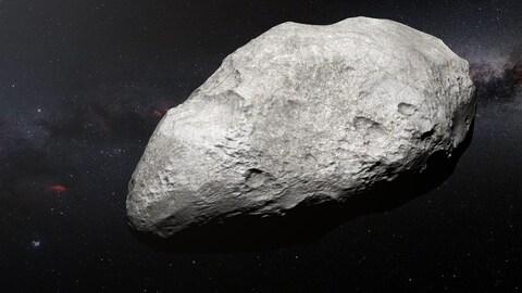 Représentation artistique de l'astéroïde exilé 2004 EW95.