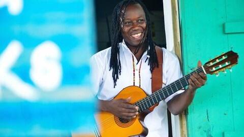 Musicien noire d'Amérique centrale