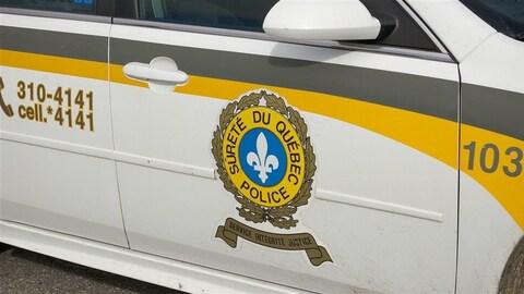 Véhicule de patrouille de la Sûreté du Québec.