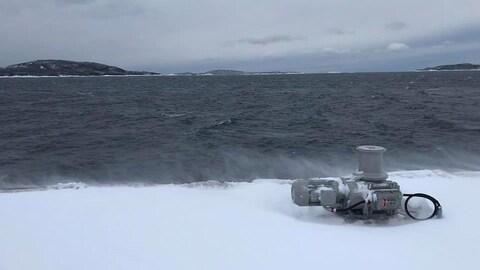 Vue de la baie de Sept-Îles, ce matin