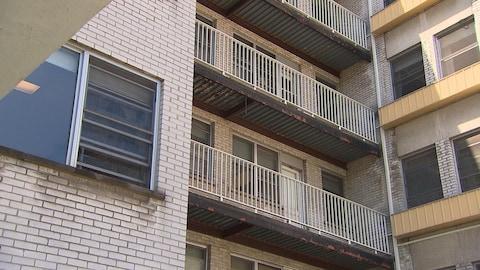 Des balcons en mauvais état