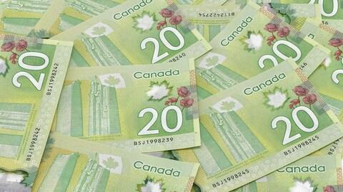 Des billets de 20 $