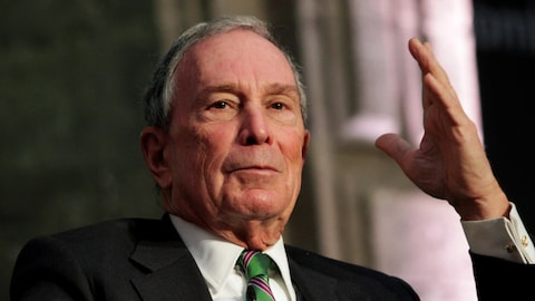 L'ex-maire de New York, Michael Bloomberg en décembre 2016 au Mexique