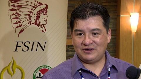Le chef de la Fédération des nations souveraines autochtones, Bobby Cameron.