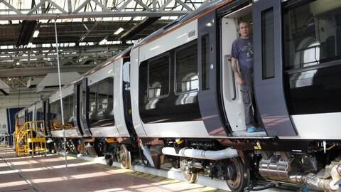 L'usine de Bombardier Transport située à Derby, au Royaume-Uni.