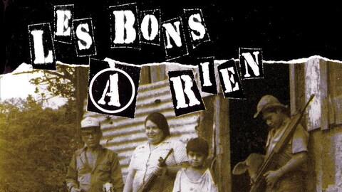 La pochette de l'album « Advienne que pourri » du groupe punk québécois Les Bons à Rien.
