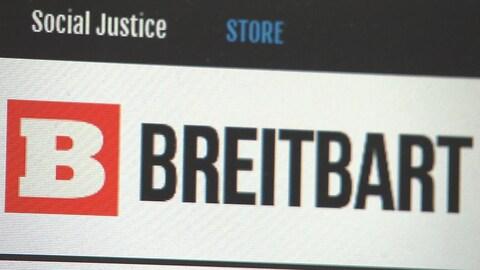 La page d'accueil du site Breitbart.