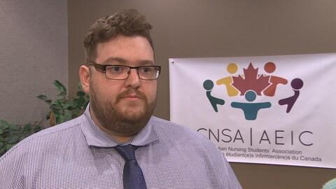 Bryce Boynton, président de l'Association des étudiant(e)s infirmier(e)s du Canada