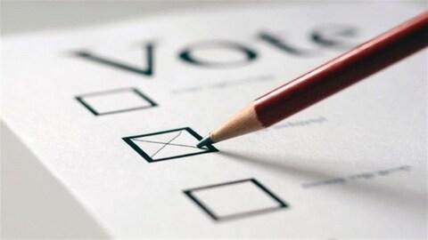 Un bulletin de vote