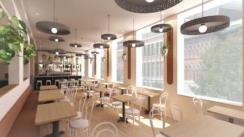 L'intérieur du futur restaurant zéro déchet La buvette du centro.