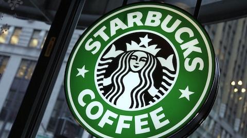 Enseigne de l'entreprise Starbucks.