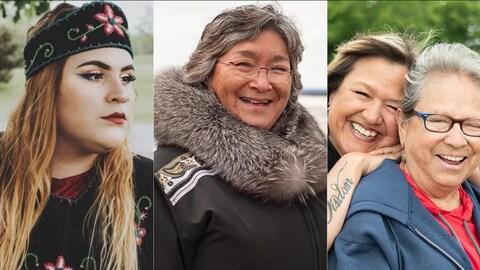 Un montage photo montrant différentes femmes autochtones qui sourient ou rient.