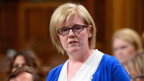 La ministre lors d'une période de questions à la Chambre des communes à Ottawa.