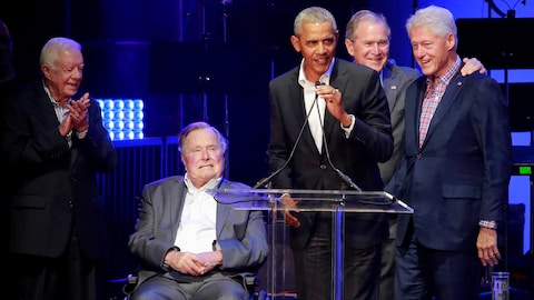Jimmy Carter, George H.W. Bush, Barack Obama, George W. Bush et Bill Clinton