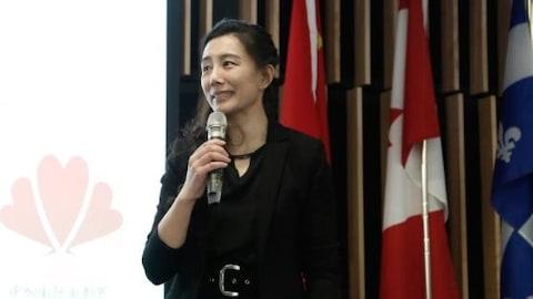 中加国际电影节创办人、主席宋淼在电影节上发言。