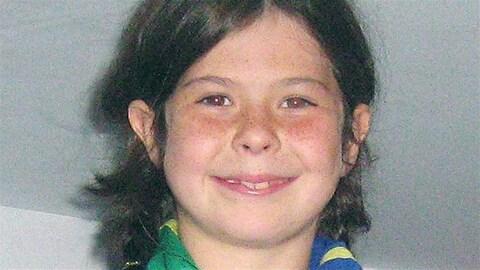 Cédrika Provencher lors de sa disparition à l'âge de 9 ans.