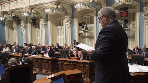 Le président de l'Assemblée nationale Jacques Chagnon