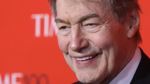 Charlie Rose lors du gala Time 100 à New York, en avril 2017.