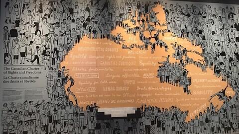 Le pays dessiné sur un mur.