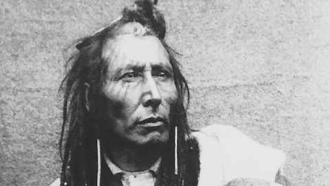 Un portrait d'archives du chef Poundmaker