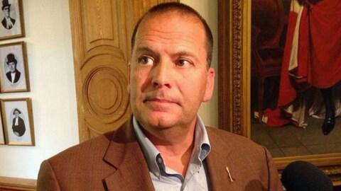 Chris Collins, suspendu du caucus libéral pour des allégations de harcèlement.