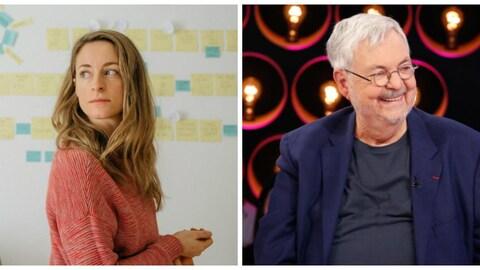 Les deux écrivains sont photographiés chacun de leur côté.