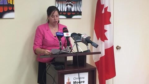 Christine Moore, députée néo-démocrate d'Abitibi-Témiscamingue