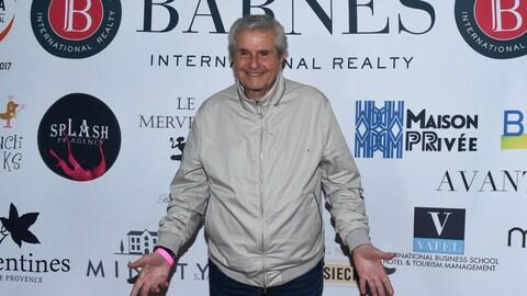 Le réalisateur français Claude Lelouch à la première d'un événement mondain à Beverly Hills, en Californie, le 27 avril 2017.