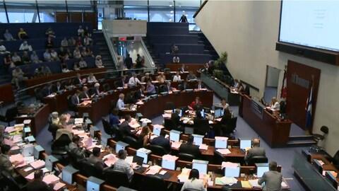 La salle du conseil de ville de Toronto