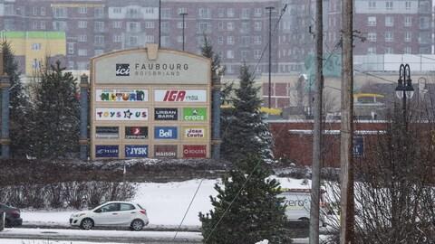 Le centre commercial Faubourg Boisbriand.