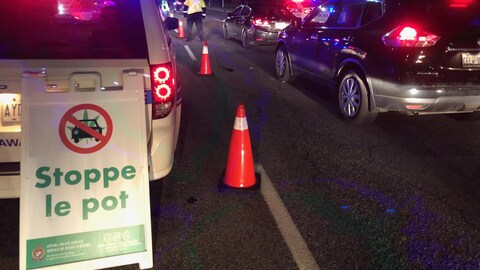 Un contrôle routier à Ottawa.