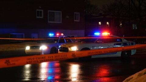 Une scène d'intervention policière.