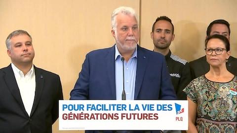 Le chef du PLQ Philippe Couillard.
