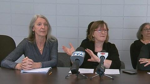 Christa Japel, chercheuse à l'UQAM et Élise Paradis, présidente du Regroupement