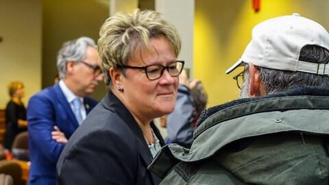 La conseillère municipale de Sherbrooke Danielle Berthold