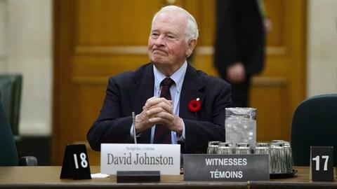 L'ex-gouverneur général du Canada David Johnston
