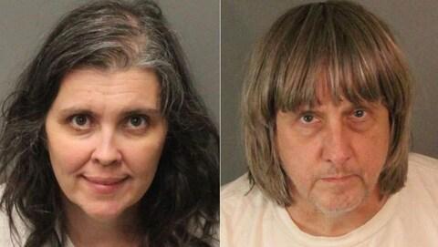 Louise et David Turpin posent pour la police du comté de Riverside après leur arrestation.