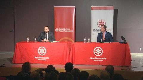 Ryan Meili et Trent Wotherspoon au podium