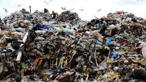 Des piles de déchets dans un dépotoir
