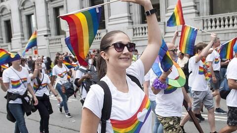 Le défilé de la fierté gaie de Montréal, en 2016