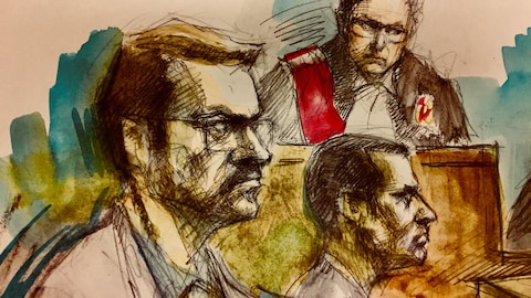 Dellen Millard, son avocat, Ravin Pillay et la juge Maureen Forestell