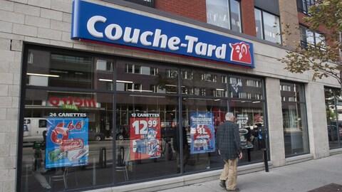 Un dépanneur Couche-tard à Montréal.