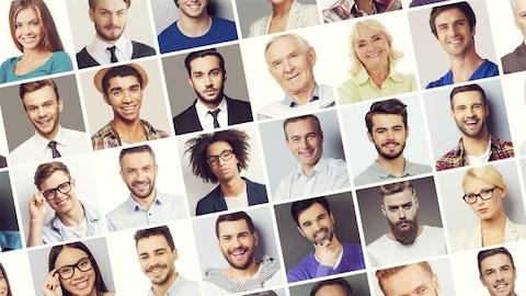 Portraits de personnes de divers horizons