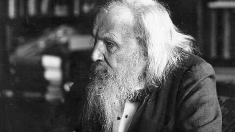 Le père du tableau périodique, Dmitri Mendeleev.