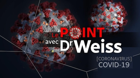 Illustration d'un virus avec la mention «Le point avec Dr Weiss».