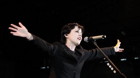 La chanteuse Dolores O'Riordan, lors d'un concert à Melbourne, en Australie, en mars 2012.