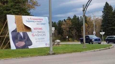 La pancarte du PCS vandalisée